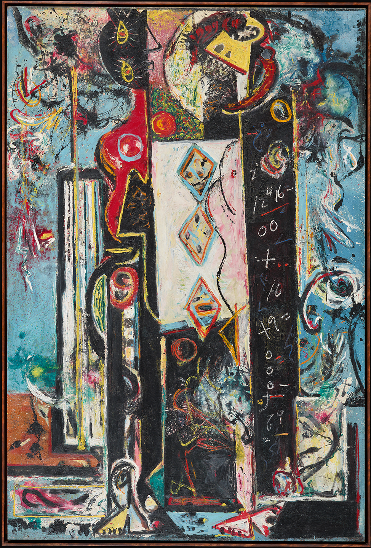Jackson Pollock, Male and Female, 1942-1943