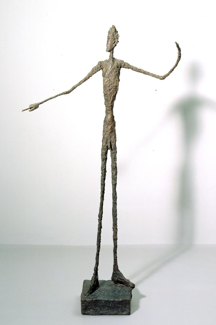 Man Pointing 1947 Tate © The Estate of Alberto Giacometti (Fondation Giacometti, Paris and ADAGP, Paris), licensed in the UK by ACS and DACS, London 2017