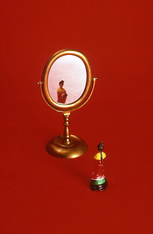 Red with Mirror, 2000
