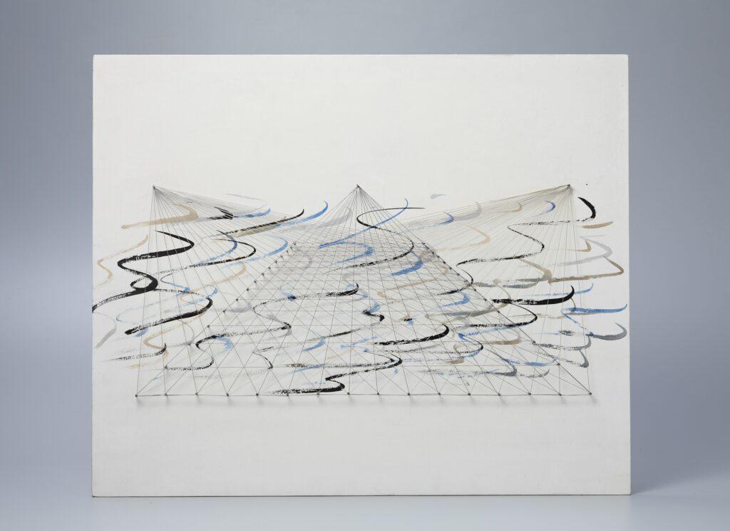 Serie Proyectos espaciales piramidales sobre el muro, finales de los 70