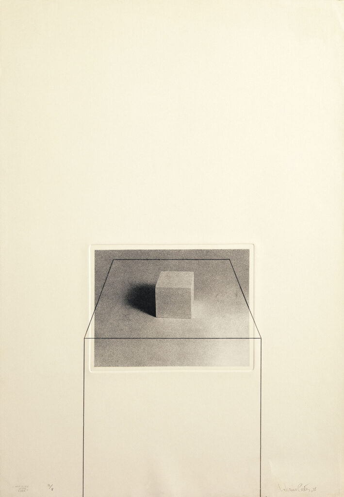 Untitled with Cube, 1975