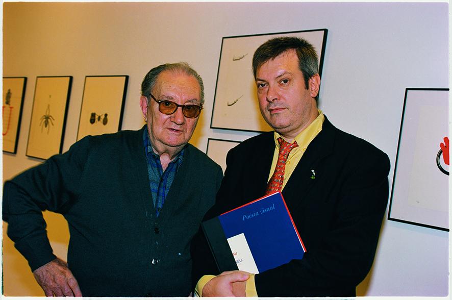 Joan Brossa y Miguel Marcos, 1997