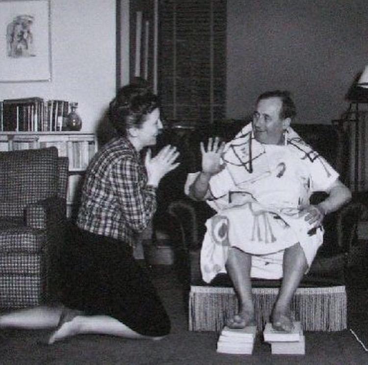 Louise Bourgeois y Joan Miró, 1947