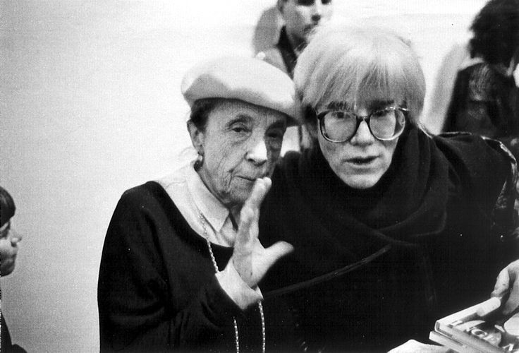 Louise Bourgeois y Andy Warhol.