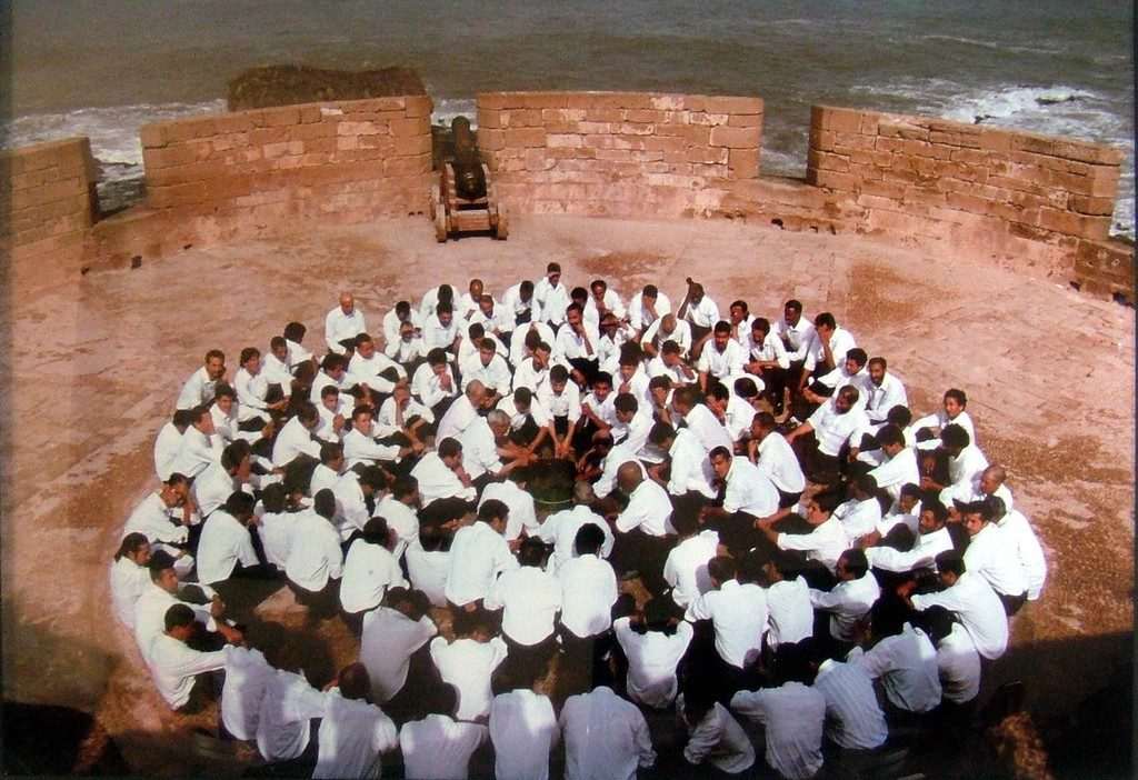 Rapture series (Men Seated On Circle, ablution), 1999