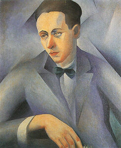 Retrato azul, Sergio Milliet, 1923